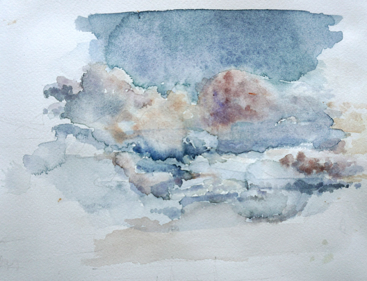 Wolken Clouds Aquarell